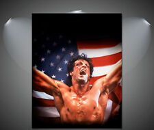 Rocky Balboa Boxing Vintage Movie CANVAS Art Print - A0 A1 A2 A3 A4