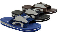 MEN'S AIR SLIP ON SPORT SLIDE SANDALS ADJUSTABLE VELCRO FLIP FLOPS SLIPPERS