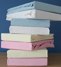 (PACK OF 2) PREMIUM QUALITY MOSES BASKET FITTED SHEETS  28 X 76 CM 100% COTTON.