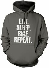 Eat Sleep Bike Repeat Unisex Hoody Cycling Gift Various Colours and Sizes Hoodie