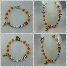 Personalized Name or Survivor Leukemia / Multiple Sclerosis Awareness Bracelet