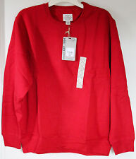 Mens NWT St. John's Bay Cotton Blend Sweater Crewneck Red Multiple Sizes