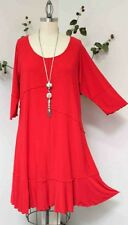 Dare2bstylish Lagenlook Plus size Tunic Dress up to 4XL in Red