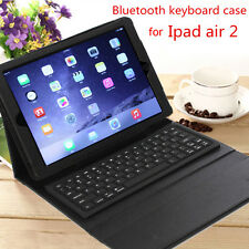 Stand Leather Case Cover With Removable Bluetooth Keyboard For Apple iPad Air2