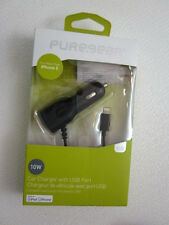 PureGear 10W/2.1 Amp Car Charger with USB port Black for Micro USB devices*
