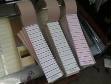 120 CARD JUKE BOX TITLE STRIPS SELECT RED GREEN BLUE JUKEBOX RECORD LABELS 45'S