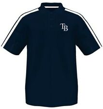 Tampa Bay Rays Majestic Synthetic Arm Polo Shirt Navy Mens Big & Tall Sizes