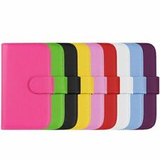 LEATHER WALLET FLIP CASE COVER For SAMSUNG Galaxy Fame S6810 &PROTECTOR& STYLUS