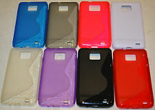 For Samsung Galaxy S2 i9100 S Line Design TPU Gel Silicone Case Cover Skin