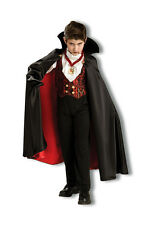 Transylvania Dracula Vampire Child Boys Kids Halloween Costume Spooky Cape Vest
