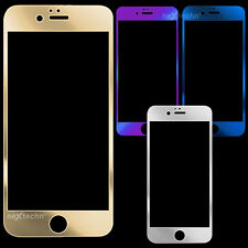 Color Mirror Tempered Glass Front Screen Protector Film For iPhone 6 & Plus