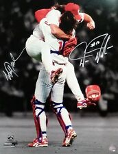 Phillies Darren Daulton Mitch Williams Autographed Signed 16x20 Photo JSA PSA