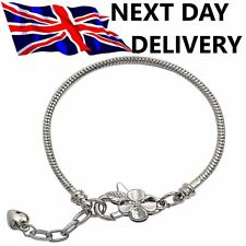1-10 x Pcs Sterling SILVER Plated SNAKE Chain Necklace CHARM BRACELETS For Beads