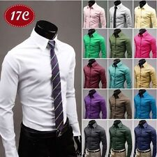 Top Fashion Mens Luxury Stylish Dress Slim Fit T-Shirts Casual Long Sleeve New