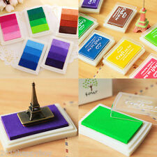 Kid Craft Ink Pad Inkpad for Paper Wood Fabric Available Rubber Stamps 17 Colors
