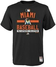Miami Marlins Color Block Authentic Collection T Shirt Men's Big & Tall Sizes