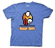Flappy Bird Game Over Mens Heather Blue T-Shirt