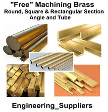 METAL brass round square flat bar / rod, fils, angle & Tube de 100 - 600 mm de long