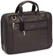 "Kenneth Cole Reaction 17"" Leather Laptop Briefcase"