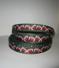 "GROSGRAIN FOOTBALL YARD LINE PRINTED GROSGRAIN 7/8"" INCH RIBBON 1, 3 OR 5 YARDS"