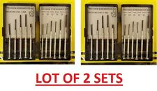 11pc Precision Screwdriver Set Micro Hobby Jeweler Watches Slotted Repair Case