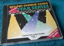 Karaoke cdg disc SC2012 Sound Choice Star, Cntry Love Duos1,see descript.8+8trks