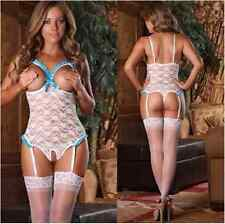 SEXY LACE LINGERIE BABYDOLL SLEEPWEAR NIGHTWEAR UNDERWEAR G STRING WOMENS LADIES
