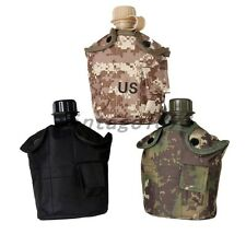 Military Army Camouflage Hiking Camping Water Bottle Pouch Canteen Mug Cup Set