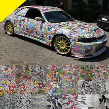 New Sticker Bomb Stickerbomb Camo Camouflage JDM Car Vinyl Film Wrap Decal Paint