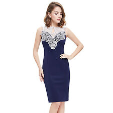 US Women Fashion Sleeveless Lace Short Party Cocktail Dress 06137 Ever Pretty