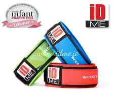 Kids Safety ID Wristband lost child ID medical ICE contact info reusable