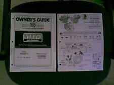 "MTD 22 24 26 & 28"" SNOWTHROWER SNOWBLOWER OWNER MANUAL"