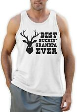 Best Buckin' Grandpa Ever - Funny Hunting Gift For Grandad Singlet Fathers Day