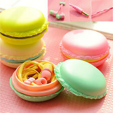 In-Ear 3.5mm Earphone V# Headset Cute Macaron Bread Storage For Phone PC MP3/4