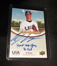 2009-10 USA Baseball 18U National Team Inscriptions Auto  #AV  AJ Vanegas  /162