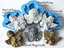 Cherub angel silicone push mold fimo sculpey sugar craft resin plaster