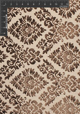 Big Medallion - Velvet Burnout, Polyester Rayon Upholstery Fabric by the Yard -