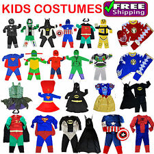 NEW Sz 2~8 KIDS SUPERHERO PARTY COSTUME BOYS GIRLS CHILDREN DRESS UP COSTUMES