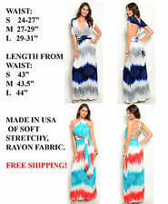 FASHION WOMENS INFINITY MULTI WAY HALTER LONG MAXI CONVERTIBLE WRAP DRESS