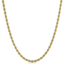 4mm 14K Gold Plated French Rope Chain Necklace