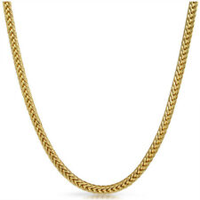 4mm 36inch Gold Plated Mens Franco Chain Necklace