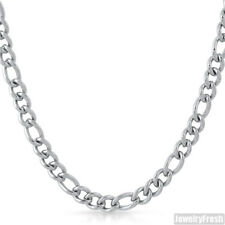7.6mm Polished Stainless Steel Silver Figaro Necklace Chain