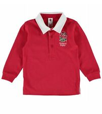 Official England RFU Baby Long Sleeved Rugby Shirt - Red - 2015/16 Season