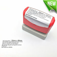 23mm x 56mm Custom Business Logo Text Rubber Flash Stamp Self Inking Refillable