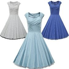 Hepburn Vintage Retro Rockabilly Swing 50s 60s Housewife Pinup Party Prom dress