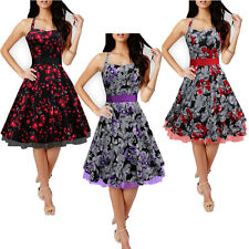 Housewife 50s Swing Halter Dress Pinup Vintage Prom Rockabilly Swing party dress