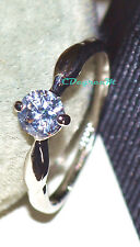 18K White Gold Silver GP SP Swarovski Crystal Wedding Thumb Pinky Ring