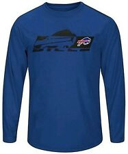 Buffalo Bills Mens Long Sleeve Synthetic Storm Shirt Royal Blue Big & Tall Sizes