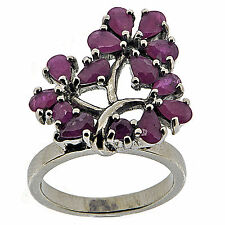 .925 Sterling Silver Massive 2.6 Ct Natural Ruby Ring
