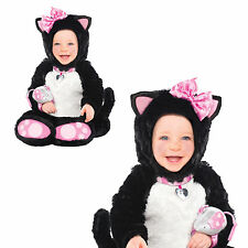 Infants Itty Bitty Kitty Cat Fancy Dress Costume Animal All In One Rattle Outfit